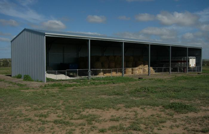 Equipment Plus Open Front Farm Shed 6 Bays for Storage