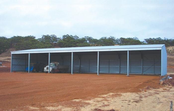 Equipment Plus Open Front Farm Shed 6 Bays