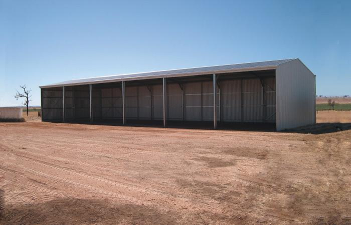 Equipment Plus Open Front Farm Shed Zincalume