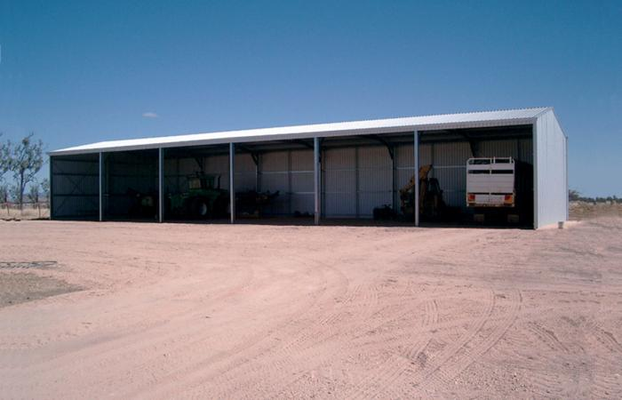 Farm Shed with Equipment Plus Open Front