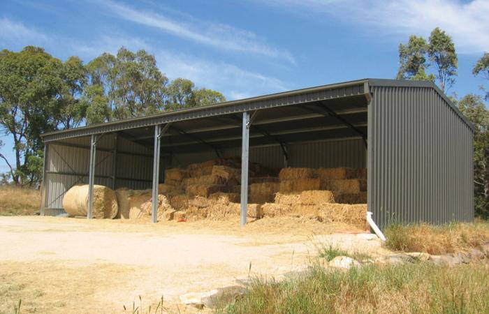 Farmers Value Open Front Farm Shed Colorbond Hay Shed