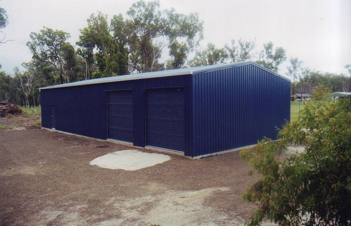 Spread It Out Workshop shed in colorsteel cladding