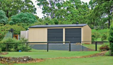 Double Steel Garage with More Ventilators on roof