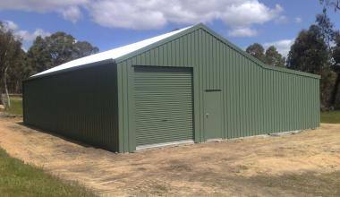 Garage with Workshop One Roller PA Door Bush Brigade