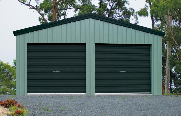 Double Garage Two Single Doors