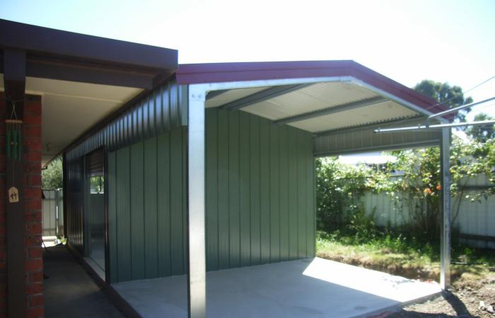 Storage Shed Carport Extension