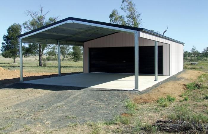 Steel Garaports Custom Designed Wide Span Sheds