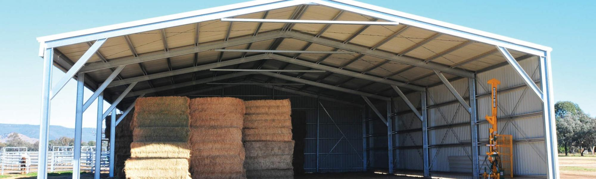 Farm Sheds to Protect Your Hay, Machinery, Equipment & Livestock